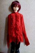 16・17少年/HOUND用ガーゼブラウス(赤)