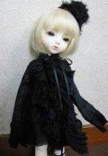 幼SD/Petite Ai用ガーゼワンピ(黒)
