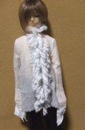 13少年用ガーゼブラウス襟フリル(白)